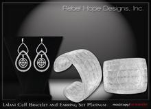!Rebel Hope Designs - Lalani Cuff Bracelet and Earring Set Plat