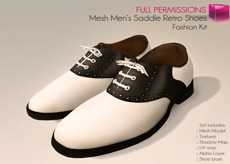 Full Perm Mesh Men's Saddle Retro Shoes - Oxford Shoes Set - madstyle -  Fashion Kit