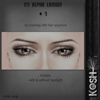KOSH- NO ALPHA LASHES V9