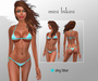 *FOTZI* Mini Bikini - White and Sky blue striped