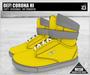 DEF! Unisex Sneakers / Corona / Hi / Yellow & Grey (100% Mesh)