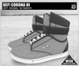 DEF! Unisex Sneakers / Corona / Hi / Grey (100% Mesh)