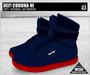 DEF! Unisex Sneakers / Corona / Hi / Blue & Red  (100% Mesh)