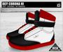 DEF! Unisex Sneakers / Corona / Hi / Black White & Red (100% Mesh)