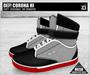 DEF! Unisex Sneakers / Corona / Hi / Black Grey & Red (100% Mesh)