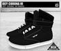 DEF! Unisex Sneakers / Corona / Hi / Black (100% Mesh)