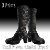 Full Perm Light Boot .. 3 Prims Female Boot Goth,Vampire,Dark.