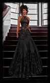 1/2 PRICE SALE ::JIM:: Luxury Brocade Dress Black 3 Wearable Options! ::2 Gown Options or wear as Cocktail Dress::