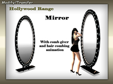 Satiated Desires: Hollywood Mirror. With hair combing animation and a comb giver