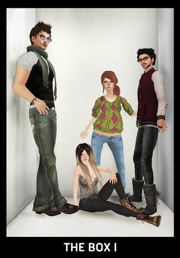 """[50% OFF PROMOTION]-WDK- """"The Box I"""" group pose w/ walls"""