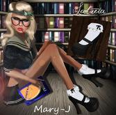 Latreia- Mary-J Black Sock'd Stilettos