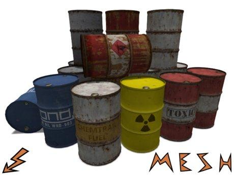 Mesh Barrel / Steel Drum in 7 variants
