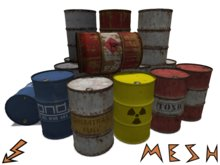 Mesh Barrel / Steel Drum in 7 variants