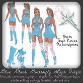 *PL* Blue Glace Butterfly Lace Outfit w Boots