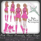 *PL* Pink Glace Butterfly Lace Outfit w Boots