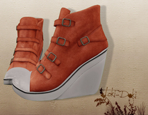 (TokiD) Gio high-top shoes (orange)