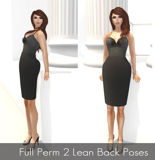 Full Perm Female 2 Lean Back Poses - Photography poses - Model poses