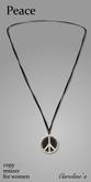 (Caroline's Jewelry) Peace Sign Necklace