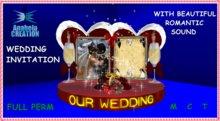 Wedding INVITATION SOFY WITH SOUND
