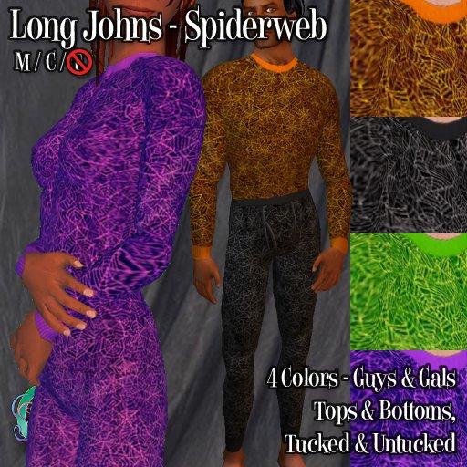 R(S)W Halloween Long Johns - Spiderweb
