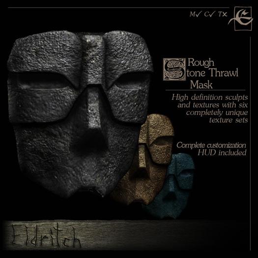 .Eldritch. Stone Thrawl Mask ~ Rough
