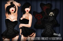 dl:: Cant Breathe Corset (4 vertions)