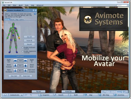 Second Life Marketplace Avimote Posemaker Pe Mobilize Your Avatar
