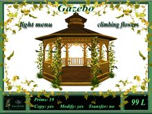 Gazebo, flowers, light-menu