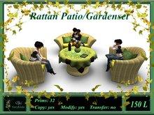 Rattan Patio/Gardenset