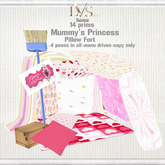 [LVS KIDS] MUMMY'S PRINCESS PILLOW FORT Hearts