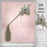 [Lvs Kids] Stick Unicorn(white roses)
