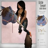 [LVS Kids] Little CowGirl Stick Horse(blue)
