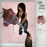 [LVS Kids] Little CowGirl Stick Horse(red)