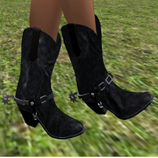 girls black cowboy boots