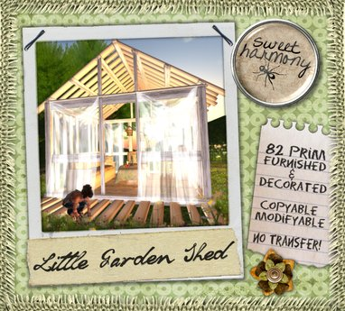 [sh] Little Garden Shed <3 (furnished & decorated)