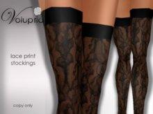 .VOLUPTIA. Lace Print Stockings