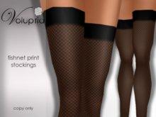 .VOLUPTIA. Fishnet Print Stockings