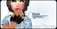 \Plushberry ~Laced Fingerless Gloves~Black
