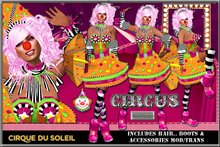 ::FIERCE DESIGNS:: CIRQUE DU SOLEIL CLOWN COSTUME:: PROMO INCLUDES $25L GIFT CARD::