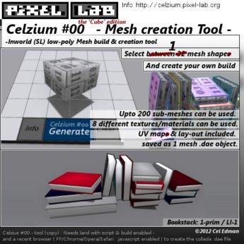 Celzium #00 (v.02) - Inworld Mesh Creation Tool - the 'cube' edition by Cel Edman