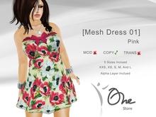 :: One Store:: [Mesh Dress 01] Pink BOX