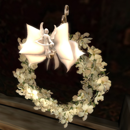 Seraph Flowering Dogwood Wreath  (75% OFF SALE! WAS $185 -> NOW ONLY $45!)