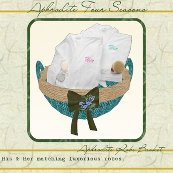 "Spa Line ""Zen"" Basket with towel robes"