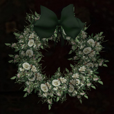 White Heirloom Rose Wreath