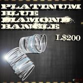 Platinum Blue Diamond Bangles - J*C