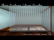 Sheer Curtain or Room Divider - Tintable!