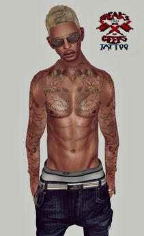 ..:Freaks & Geeks:.. Chris Brown Style HD tattoo(UNISEX)