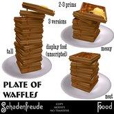 Schadenfreude Plate of Waffles