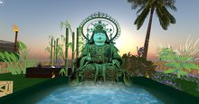 Japanese Budha Fountain with Sereen Music .