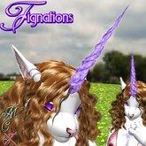 *Fig* Unicorn Horn 03 Amethyst Gem ~ boxed